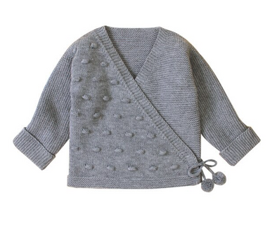 April Grey Bobble Cardigan