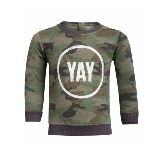 Camo Slogan Jumper