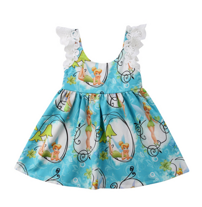 Girls Tinker Bell Ruffle Dress