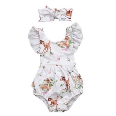 Baby Bambi Romper / Head Tie - Huntleys Shoes