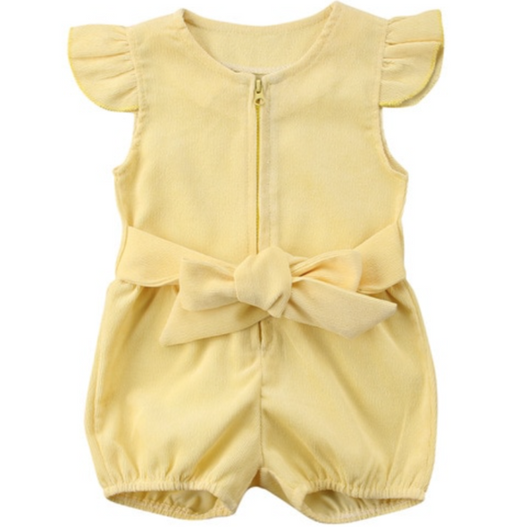 Lacey Yellow Lemon Playsuit