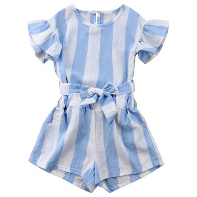 Tillie Blue Bow Tie Shorts Set