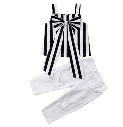 Samantha Striped Top Jeans Set