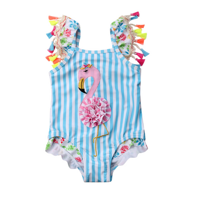 Summer Flamingo Tassel Swimsuit