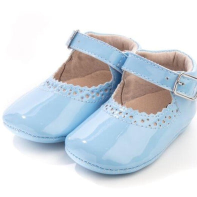 Baby Blue Soft Leather Mary Janes