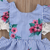 Casey Floral Striped Dress