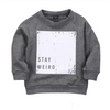 Cargo Dark Grey 'Stay Weird' Sweater