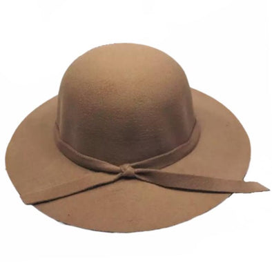 Camel Wide Brim Hat