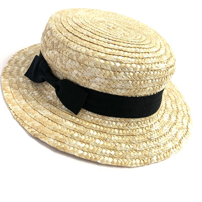 Straw Ribbon Trilby Hat