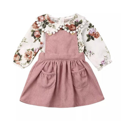 Eden Pinafore Dress Set