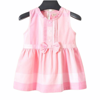 Cora Pink Bow Front Checked Dress