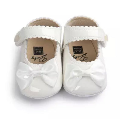 White Bow Front Shoes