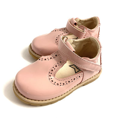 Pink Patent T Bar Shoes