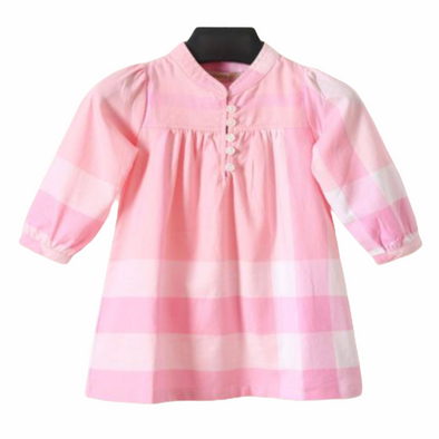 Nalla Pink Checked Dress