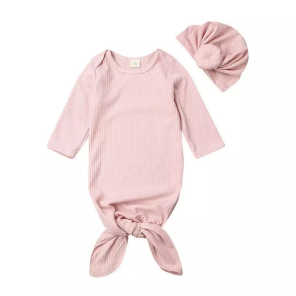 Pink Ribbed Swaddle Blanket