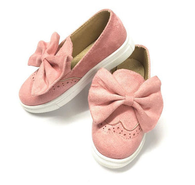 Pink Bow Front Trainers