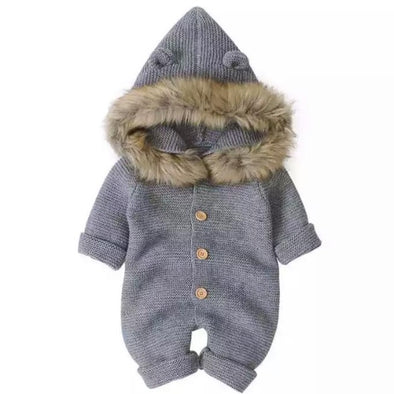 Brooklyn Grey Knitted Snowsuit