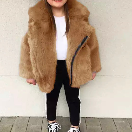 Liliana Gold Faux Fur Coat