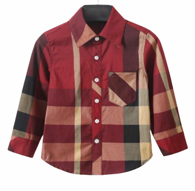 Crew Red Checked Boys Shirt