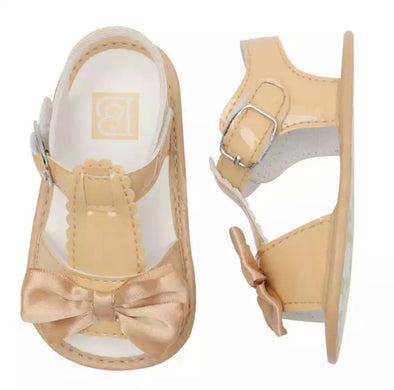 Camel Soft Sole Bow Front Sandals