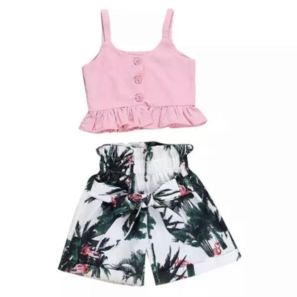 Ava Palm Shorts Set