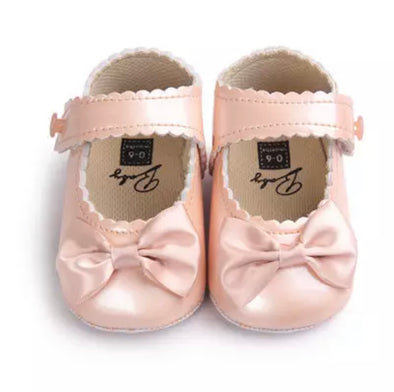 Peach Bow Front Shoes