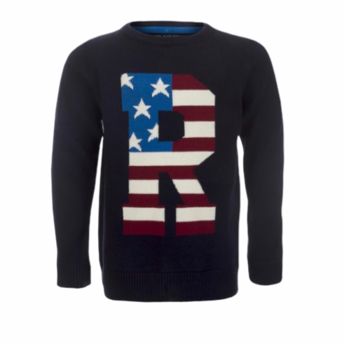 Ryder Navy Flag Front Jumper
