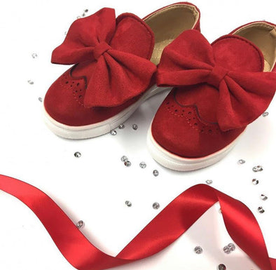 Red Bow Front Trainers