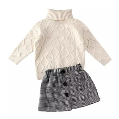 Makaya Cream Jumper Skirt Set