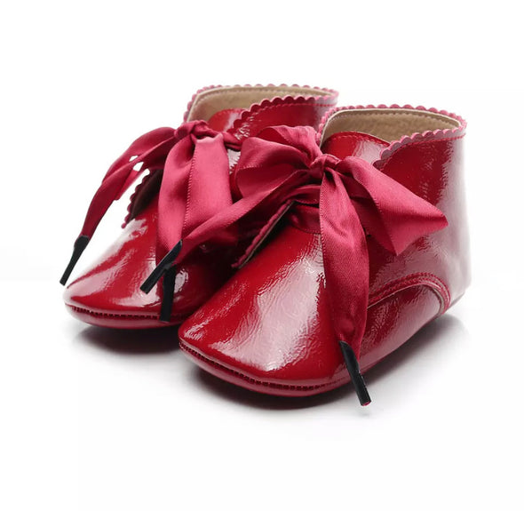 Toby Red Ribbon Booties