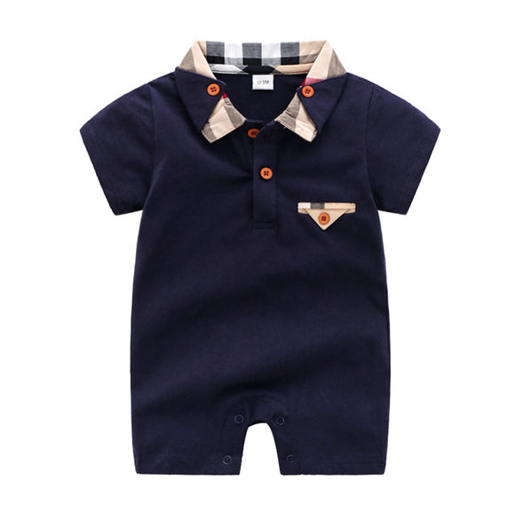 Brandon Navy Shortie Bodysuit