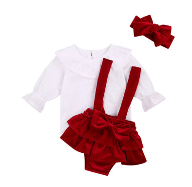 Red Bow Three Piece Set