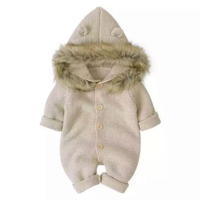 Brooklyn Cream Knitted Snowsuit