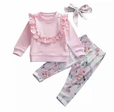 Jana Pink Leggings Three Piece Set