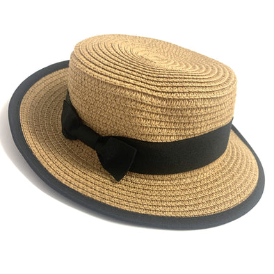 Dark Straw Ribbon Trilby Hat