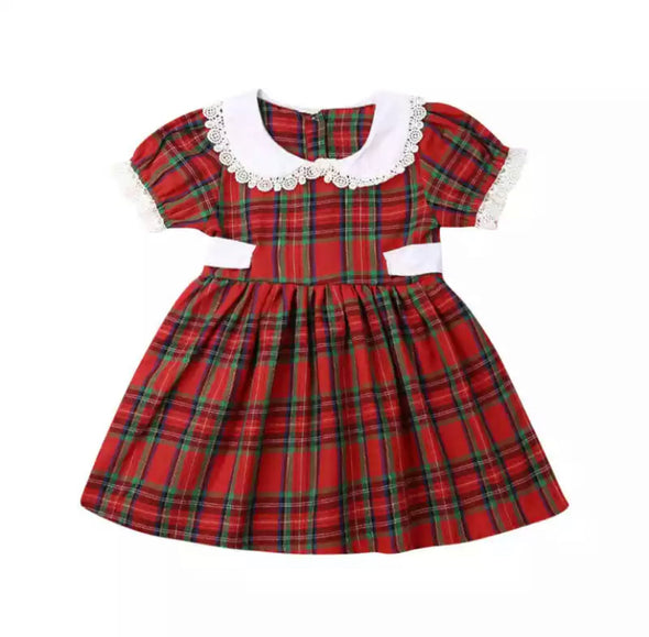 Bria Checked Tartan Dress