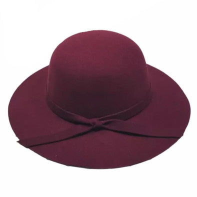 Plum Wide Brim Hat