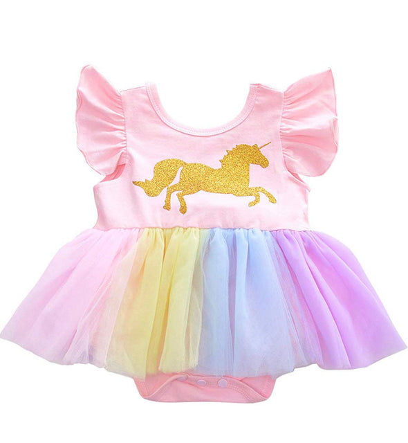 Maya Pink Unicorn Dress