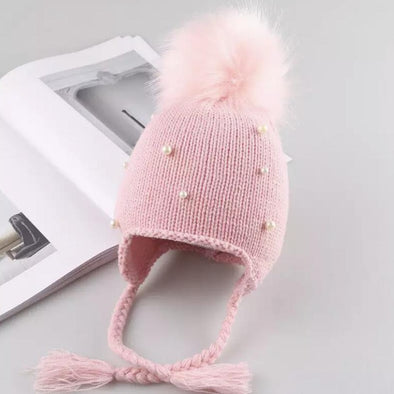Pink Pom Pearl Hat
