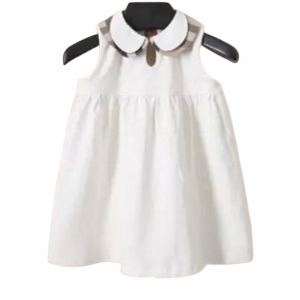 Cassidy White Trim Collared Dress