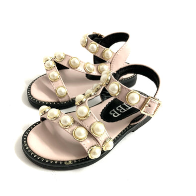 Pearl Pink Strap Sandals
