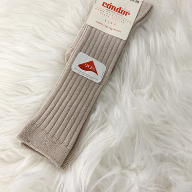 Camel Ribbed Socks