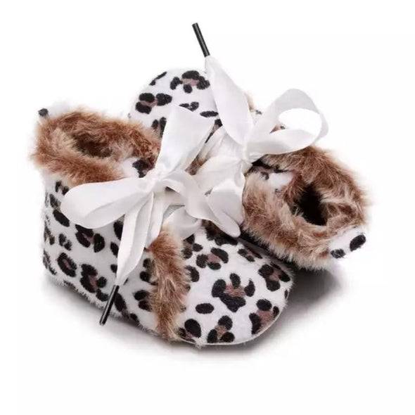 Toby White Leopard Booties