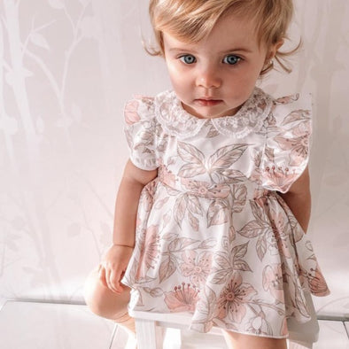 Melanie Floral Dress Romper Set