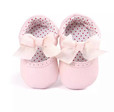 Pink Bow Front Shoes