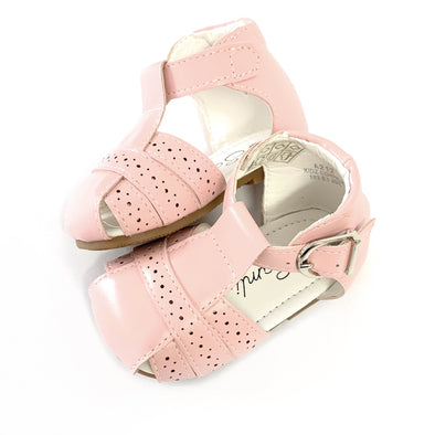 Pink Caged Buckle Sandals
