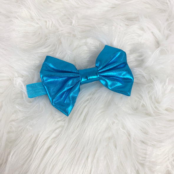 Light Blue Metallic Head Band