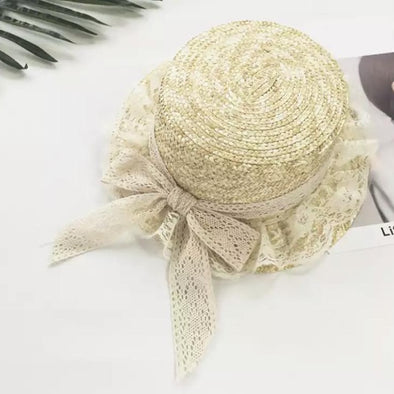 Lace Rim Bow Trilby Hat