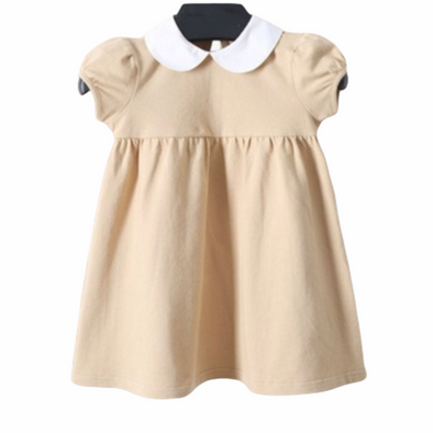 Roma Camel Collared Dress