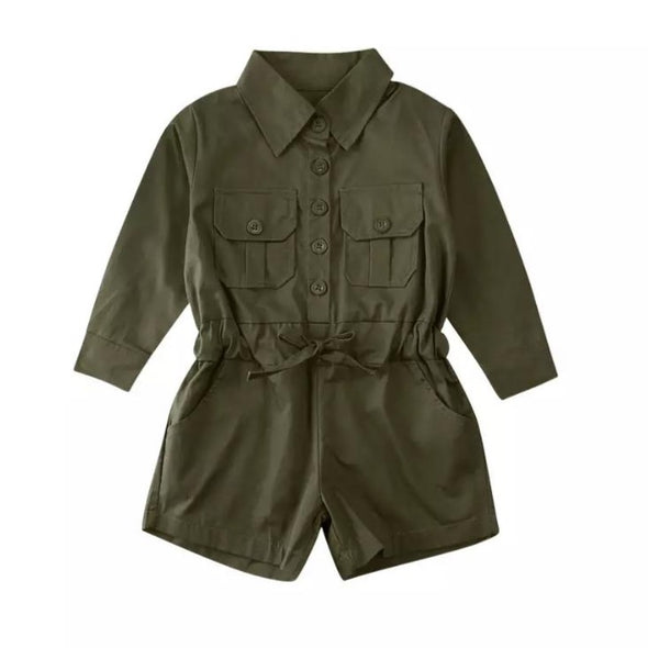 Clayton Khaki Green Playsuit